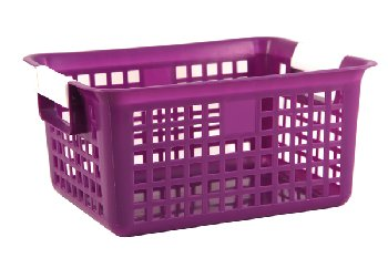 Letter Basket - Purple