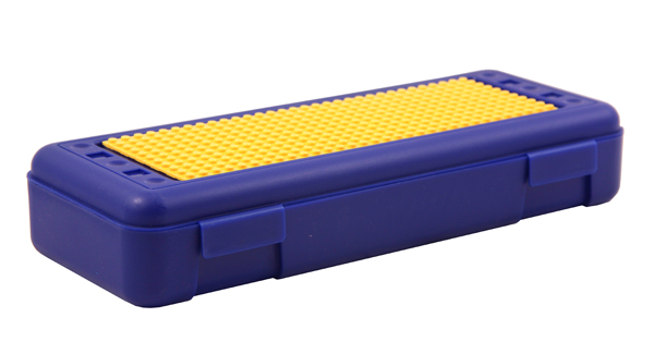 Pencil/Ruler Box with Plate - Blue