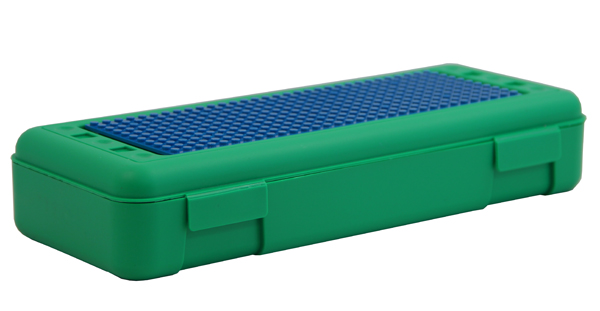 Pencil/Ruler Box with Plate - Green