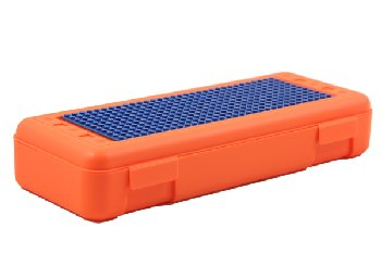 Pencil/Ruler Box with Plate - Orange