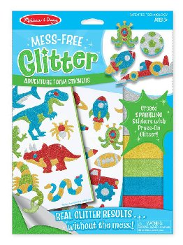 Adventure Foam Stickers Mess-Free Glitter Kit