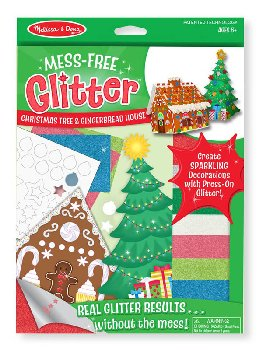 Christmas Tree & Gingerbread House Mess-Free Glitter Kit