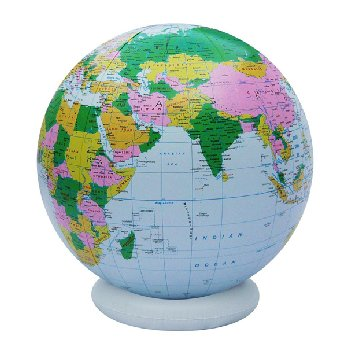 Political Globe Blue Inflatable 36""