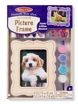 Decorate-Your-Own Wooden Picture Frame (Melissa & Doug item #8855)