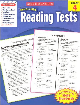 Reading Tests Grade 4 (Scholastic Success Wit