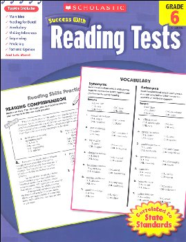 Reading Tests Grade 6 (Scholastic Success Wit