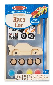 Decorate-Your-Own Wooden Race Car - Small (Melissa & Doug item #8829)