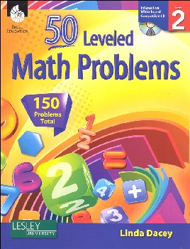 50 Leveled Math Problems with CD Grade 2