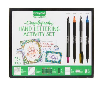 Crayola Signature Crayoligraphy Hand Lettering Activity Set