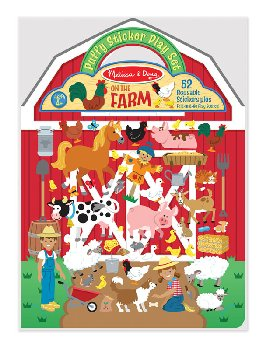 On the Farm Puffy Sticker Activity Book