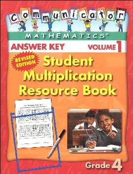 Student Multiplication Resource Book Grade 4 - Answer Key
