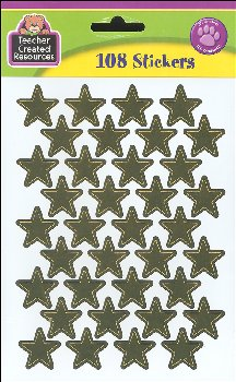 Large Gold Foil Stars Stickers (108 per pack)