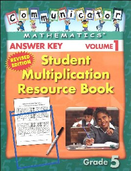 Student Multiplication Resource Book Grade 5 Volume 1 - Answer Key