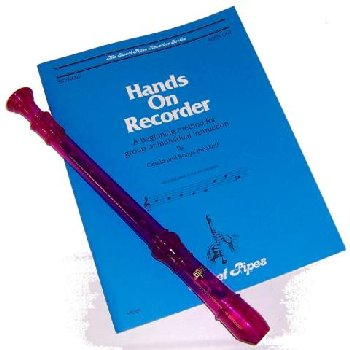Hands On Recorder Book with Purple Canto Recorder