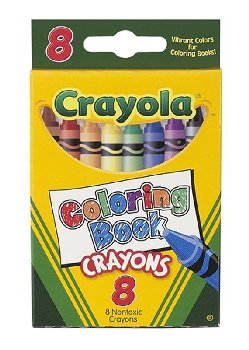 Crayola Coloring Book Crayons 8 Count