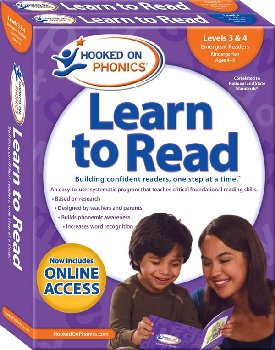 Hooked on Phonics Learn to Read Levels 3 & 4 - Kindergarten