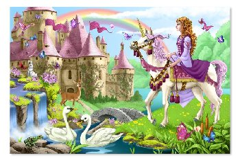Fairy Tale Castle Floor Puzzle (48 Pieces)