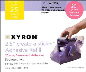 "Xyron 250 Sticker Maker 2.5"" Refill"