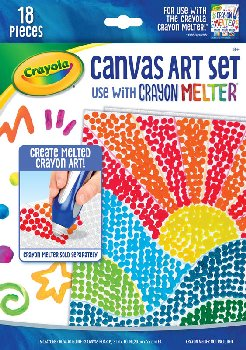 Crayola Crayon Melter Canvas Art Set