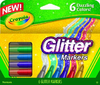Crayola Glitter Markers 6 Count
