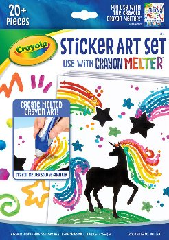 Crayola Crayon Melter Sticker Art Set