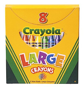 Crayola Large Crayons 8 Count