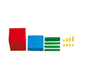 Interlocking Base Ten Blocks (Multi-Color, 121 Pieces)