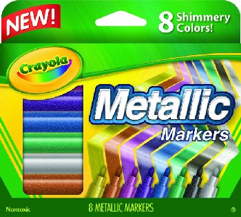 Crayola Metallic Markers 8 Count