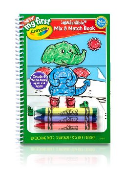 My First Crayola Washable Mix & Match Book