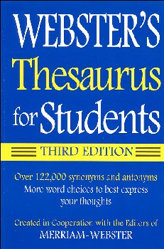 Webster's Thesaurus for Students 3rd Edition