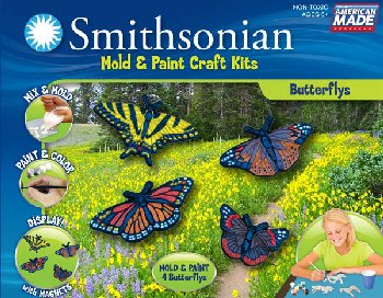 Smithsonian Mold & Paint Kit - Butterflies