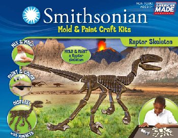 Smithsonian Mold & Paint Kit - Raptor Skeleton
