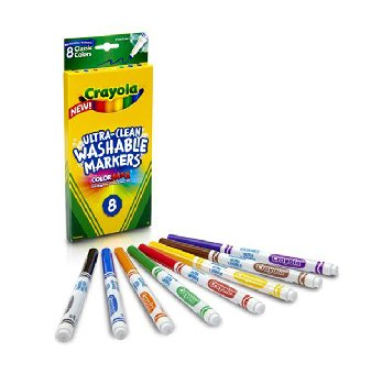 Ultra-Clean Washable Fine Line Markers Classic 8 Count