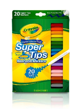 Crayola Super Tips Washable Fine Line Markers  20 Count