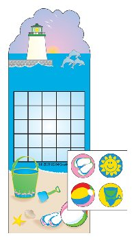 Beach Personal Incentive Charts and Stickers