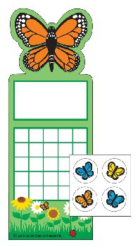 Butterfly Personal Incentive Charts and Stickers