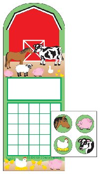 Farm Personal Incentive Charts and Stickers