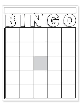 White Blank Bingo Cards (Package of 36)