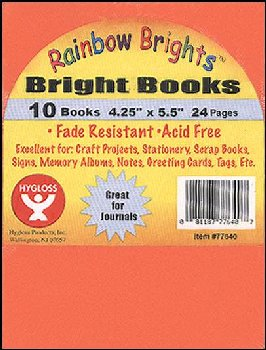 "Bright Books - Set of 10 Assorted Colors (4 1/4"" x 5 1/2"")"