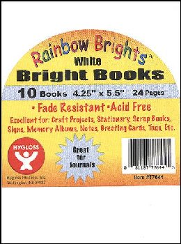 "Bright Books - Set of 10 White Books (4 1/4"" x 5 1/2"")"