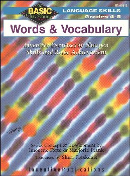 Basic, Not Boring: Words and Vocabulary Grades 4-5