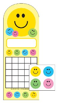Smile Personal Incentive Charts and Stickers