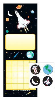 Space Personal Incentive Charts and Stickers