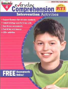Everyday Comprehension Intervention Activities Grade 4