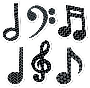 Music Symbol Stickers (120 Stickers)