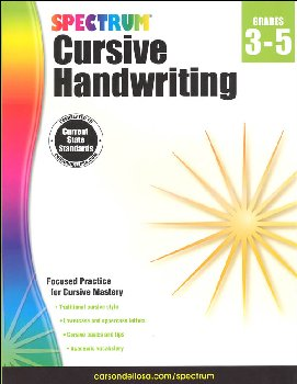 Spectrum Handwriting: Cursive