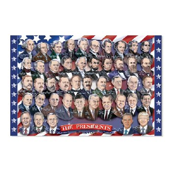 Presidents of the U.S.A. Floor Puzzle (100 Pieces)