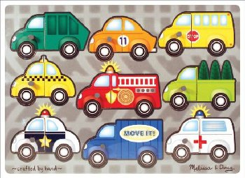 Vehicles Mix 'n Match Puzzle (9 pcs)