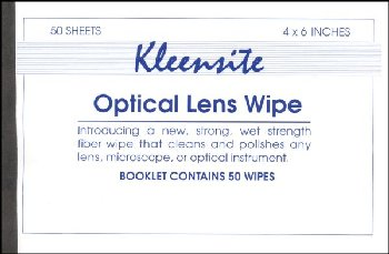 "Lens Wipes - 4"" X 6"" Booklet of 50 Quantity"