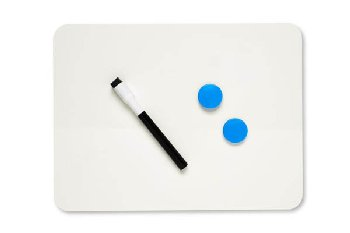"Magnetic Dry Erase Board 9"" x 12"" 2-sided plain"